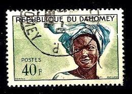 DAHOMEY 186° 40f Vert, Bleu Et Violet-brun Jeune Fille (10% De La Cote + 0154 - Bénin – Dahomey (1960-...)