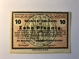 Allemagne Notgeld Allemagne Rinteln 10 Pfennig - [ 3] 1918-1933 : République De Weimar
