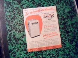 Publicitée  Tract Machine A Laver Auto Centreuse Elida SAUTER Gyroscil  Av De La Grande Armee Paris - Publicidad