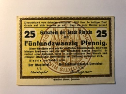 Allemagne Notgeld Allemagne Rinteln 25 Pfennig - [ 3] 1918-1933 : République De Weimar