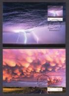 1.- AUSTRALIA 2018 FOUR MAXIMUM CARDS - CLOUDSCAPES - Cartas Máxima
