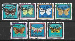 Mongolia  1986 Butterflies And Moths    Used - Mongolie