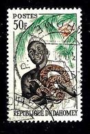 DAHOMEY 187° 50f Vert, Brun-orange Et Noir Féticheur Et Son Python (10% De La Cote + 015) - Bénin – Dahomey (1960-...)