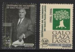 Ecuador (2006) Yv. 1991/92  /  Galo Plaza Lasso - Equateur