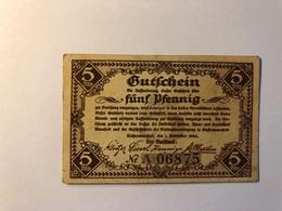 Allemagne Notgeld Allemagne Riostermansfeld 5 Pfennig - [ 3] 1918-1933 : République De Weimar