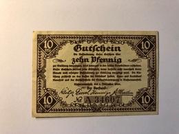 Allemagne Notgeld Allemagne Riostermansfeld 10 Pfennig - [ 3] 1918-1933 : République De Weimar