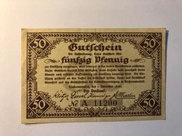 Allemagne Notgeld Allemagne Riostermansfeld 50 Pfennig - [ 3] 1918-1933 : République De Weimar