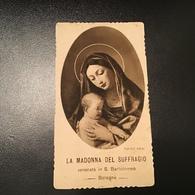 """Antico Santino - Holy Card """" MADONNA DEL SUFFRAGIO """" Ed. Bononia - Religione & Esoterismo"""