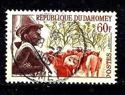 DAHOMEY 188° 60f Rouge-orange, Olive Et Violet-brun Peuhl (10% De La Cote + 015) - Benin - Dahomey (1960-...)
