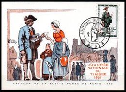 Journée Du Timbre 1285  // Premier Jour FDC //  1 Carte // 18 Mars 1961 - FDC