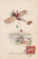 Pere Noel En Avion Avec Les Jouets - Noël