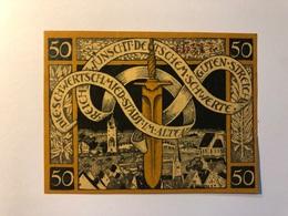 Allemagne Notgeld Allemagne Schwertschmied 50 Pfennig - [ 3] 1918-1933 : République De Weimar