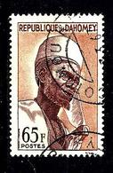 DAHOMEY 189° 65f Brun-orange Et Violet-brun Seigneur Bariba De Nikki (10% De La Cote + 015) - Bénin – Dahomey (1960-...)