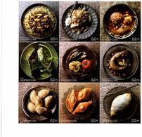 Azerbaijan . 2017 Gastronomy. M/ S Of 9v X 0.2 (1 Spoon). Michel # 1334-42 KB - Azerbaïdjan