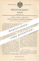 Original Patent - Henry Guinard , New York , 1894 , Glashohlkörper Mit Drahteinlage | Glas , Draht , Gläser , Glasbläser - Historical Documents