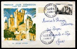 Uzés  1099  // Premier Jour FDC //  1 Enveloppe // 27 Avril 1957 - FDC