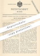 Original Patent - Société Cuénod Sautter & Compagnie , Genf , Schweiz , 1889 , Anker Für Elektrische Maschinen | Dynamo - Historical Documents