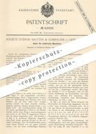 Original Patent - Société Cuénod Sautter & Compagnie , Genf , Schweiz , 1889 , Anker Für Elektrische Maschinen   Dynamo - Documents Historiques