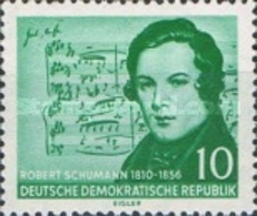 USED STAMPS OF DDR -The 100th Anniversary Of The Death Of Robert Schumann-1956 - Oblitérés