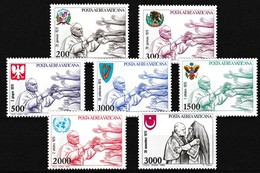 Vatikaan 1980 Luchtpost Nr 66/72 **, Zeer Mooi Lot Krt 4040 - Poste Aérienne