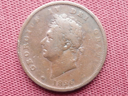 GRANDE BRETAGNE Monnaie De 1826 Diamètre 34 Mm - Non Classificati