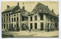 CPA - Carte Postale - Belgique - Wervicq-Ruines - Rue De L'Eglise - 1920 (SV6576) - Wervik