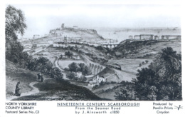 YORKS - SCARBOROUGH - 19th CENTURY - FROM THE SEAMER ROAD RP - PAMLIN REPRO Y2167 - Scarborough