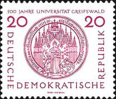 USED STAMPS OF DDR - The 500th Anniversary Of Greifswald University -1956 - Oblitérés