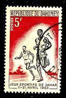 DAHOMEY 195° 5f Rouge, Brun Et Noir Jeux Sportifs De L'amitié à Dakar Athlétisme (10% De La Cote + 015) - Bénin – Dahomey (1960-...)