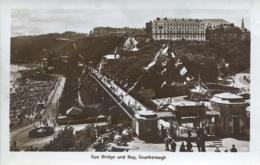 YORKS - SCARBOROUGH - SPA BRIDGE AND BAY RP Y2645 - Scarborough
