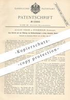 Original Patent - August Vedoe , Stockholm , Schweden , 1890 , Handapparat Für Drehwerkzeug   Bohren , Dreher , Drehbank - Documents Historiques