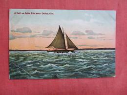 Canada > Ontario  Sail On Lake Erie Near Oxley     Ref 3094 - Ontario