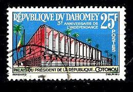 DAHOMEY 198° 25f 3ème Anniversaire De L'indépendance Palais Présidentiel à Cotonou (10% De La Cote + 015) - Benin - Dahomey (1960-...)