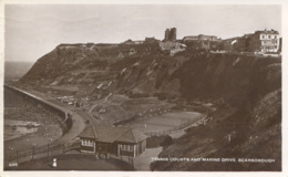 YORKS - SCARBOROUGH - TENNIS COURTS AND MARINE DRIVE RP Y2061 - Scarborough