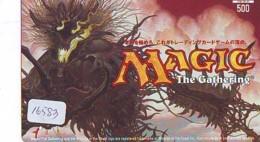 Carte Prépayée Japon * MANGA * MAGIC THE GATHERING * (16.583) COMIC * ANIME Japan Prepaid Card * CINEMA * FILM - BD