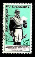 DAHOMEY 199° 25f Vert-brun, Carmin Et Noir 160ème Anniversaire De La Mort De Toussaint Louverture (10% De La Cote + 015) - Benin - Dahomey (1960-...)