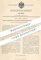 Original Patent - Max Seipp , Berlin 1895 , Kohlenstaub Restlos Verbrennen   Kohle , Koks , Brennstoff , Feuerung , Ofen - Documents Historiques