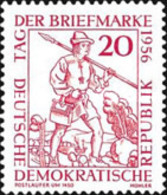 USED STAMPS OF DDR - The Day Of Stamps -1956 - Oblitérés