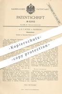 Original Patent - A. E. F. Rüter , Hamburg , 1891 , Hosenschoner | Hose , Hosen | Schneider , Schneiderei , Mode !! - Historical Documents