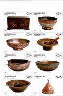 Azerbaijan. 2017 Handicraft, Dishes. M/S Of 8v X 0.2  Michel # 1305-12 KB - Azerbaïjan