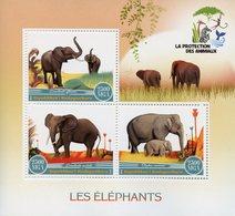 Madagascar 2017 MNH Elephants Elephant 3v M/S Mammals Wild Animals Stamps - Elephants