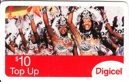 ST. VINCENT & THE GRENADINES - Carnival, Digicel Recharge Card $10, Exp.date 19/09/10, Used - San Vicente Y Las Granadinas