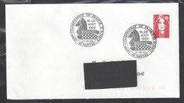 Chess, France Nantes, 27.08.1993, Special Cancel On Envelope - Schaken