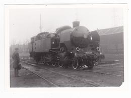 PHOTO Originale Train Locomotive Vapeur SNCF 141 TC 10 En 1971 - Trains