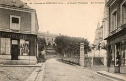 61. CPA. LA CHAPELLE MONTLIGEON. Près Mortagne. Rue Principale. Commerces. - Frankreich