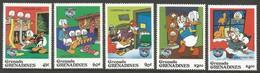 1984 Grenada Grenadines Christmas: 50th Birthday Of Donald Duck Set And Souvenir Sheet (** / MNH / UMM) - Disney