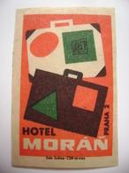 Czechoslovakia  Matchbox Label 1964 - Praha Prague - Hotel Moran - Matchbox Labels