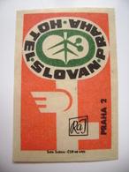 Czechoslovakia  Matchbox Label 1964 - Praha Prague - Hotel Slovan - Matchbox Labels