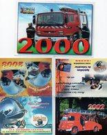 Lot 9 Calendriers De Poche Pompiers De La Charente  18-112 (2000-02-03-04-05-09-10-11-12) - Calendriers