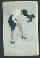 Kirchner. Le Coup De La Jarretelle. N° 12. Trichromie Artistique.  A. Leroi, Paris. - Kirchner, Raphael